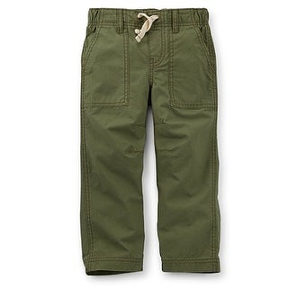 Carter's Baby Boys' Woven Ripstop Pants - Olive Green