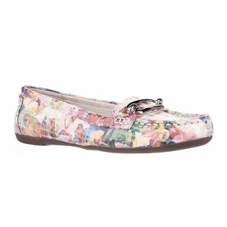 Anne Klein Noris Penny Loafer Flats, Pink Multi Reptile