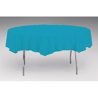 Touch Of Color Octy-Round Round Plastic Table Cover Turquoise