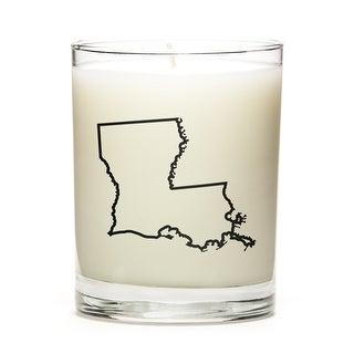 Custom Gift - Map Outline of Louisiana U.S State, Eucalyptus