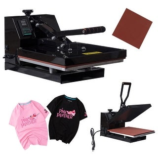 Costway 15'' X 15'' Digital Heat Press Machine Transfer Sublimation Clamshell for T Shirts