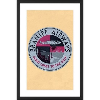 Marmont Hill Braniff Airlines - Black Framed Art Print Smithsonian Black Framed Giclee Art Print on High Resolution Archive