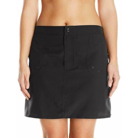 Maxine Of Hollywood Womens Swimwear Black Size 18W Plus Boardskirt