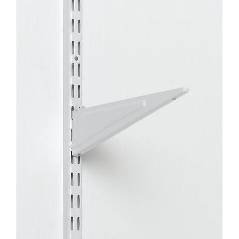 "Closetmaid 2854 Wire Shelving Bracket, 16"", White"