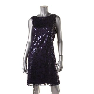 Jessica Howard Womens Sequined Sleeveless Cocktail Dress