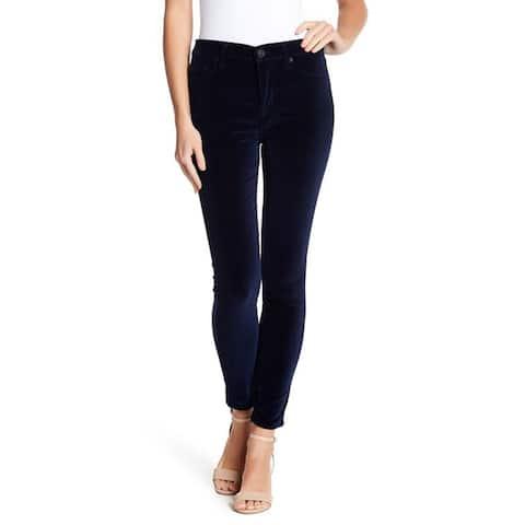 Hudson Barbara High Waist Ankle Super Skinny Jeans, Dark Obside, 29