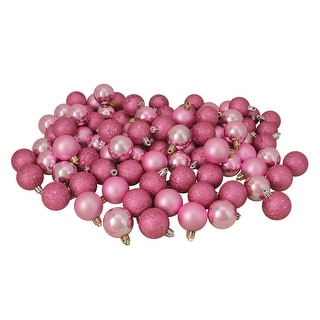 Christmas Ball Ornaments.96ct Bubblegum Pink Shatterproof 4 Finish Christmas Ball Ornaments 1 5 40mm Overstock Com Shopping The Best Deals On Christmas Ornaments