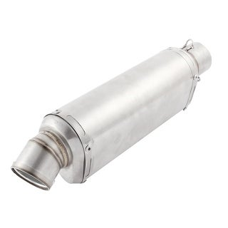 Motorcycle Stainless Steel 50mm Dia Inlet Exhaust Pipe Muffler Tip Sliver Tone