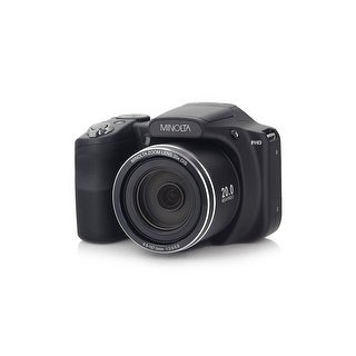 Minolta 20 Mega Pixels WiFi Digital Camera with 35x Optical Zoom & 1080p HD Video Optical with 3-Inch LCD (MN35Z-BK)