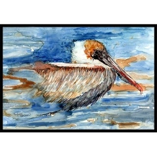 Carolines Treasures 8942MAT Pelican In The Water Indoor & Outdoor Mat 18 x 27 in.