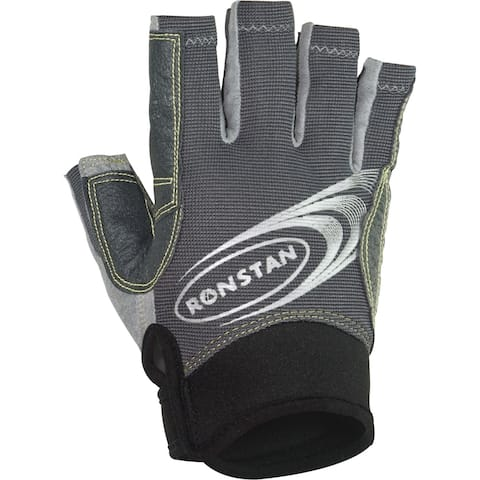 Ronstan sticky race glove cut finger x large grey