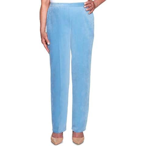 Alfred Dunner Womens Petites Corduroy Pants Classic Fit Mid-Rise - Blue - 18P