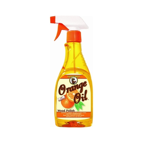 Howard ORS016 Orange Oil Furniture Polish, 16 Oz
