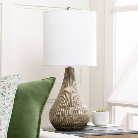 "Kele 27"" Global Ceramic Table Lamp - 27""H x 12""W x 12""D"