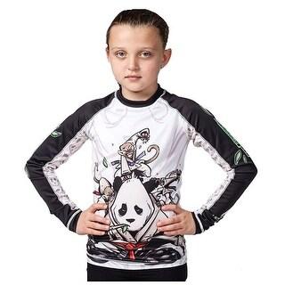 Tatami Fightwear Kids Gentle Panda Rashguard - White/Black