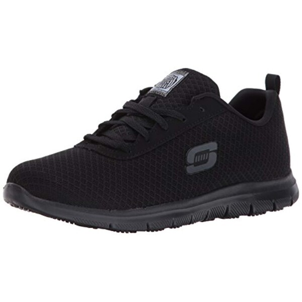 Skechers for Work Women's Ghenter Bronaugh Work and Food Service Shoe,BLACK, 10M US