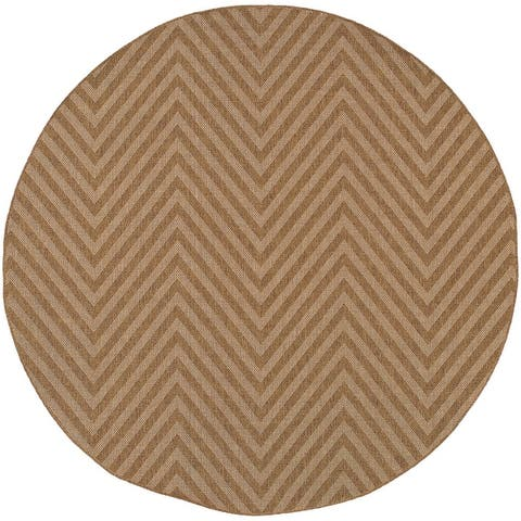 Veranda Chevron Stripes Indoor/ Outdoor Area Rug