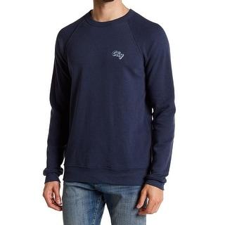Obey NEW Mood Indigo Blue Mens Size Medium M Fleece Crewneck Sweater