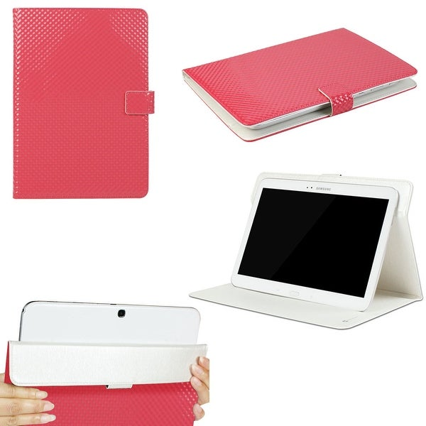 """JAVOedge 3D Square grid Universal 9""""-10"""" Tablet Case for iPad Air, Samsung Note, Tab 3, Nook HD+ 9, Nexus 10 (Red)"""