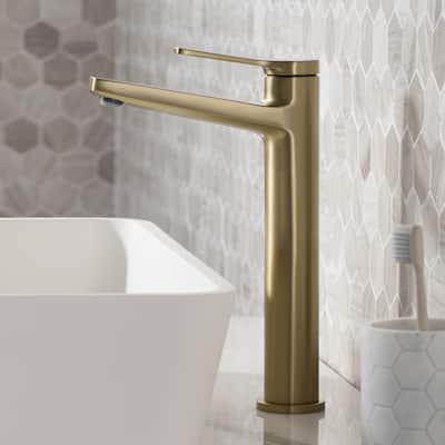 KRAUS Indy Single Handle 1-Hole Vessel Bathroom Faucet
