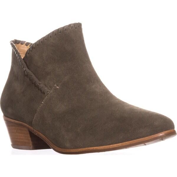 Jack Rogers Sadie Flat Ankle Boots, Olive Suede