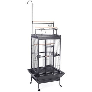 Costway Bird Cage Play Top Strong Iron Ladder Parrot Cockatoo Parakeet Pet Supply