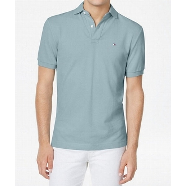 bb4069fc Shop Tommy Hilfiger Skyway Blue Mens Size XL Custom Fit Polo Shirt - Free  Shipping On Orders Over $45 - Overstock - 22409963
