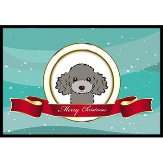 Carolines Treasures BB1569MAT Silver Gray Poodle Merry Christmas Indoor & Outdoor Mat 18 x 27 in.