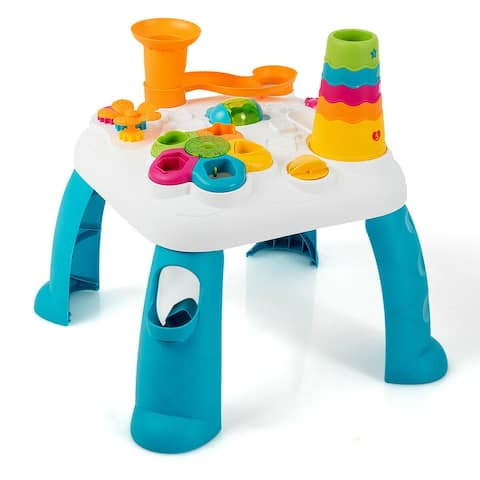 2 in 1 Early Education Toy Toddler Learning Table-Blue