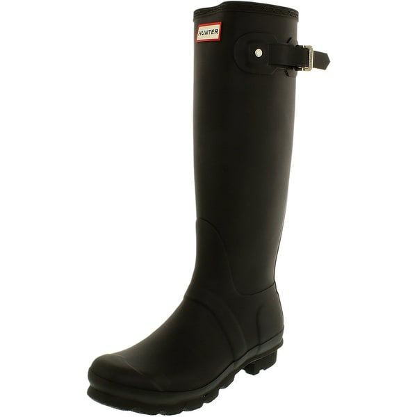 Hunter Women's Original Tall Knee-High Rubber Rain Boot. Opens flyout.