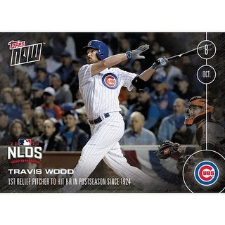 MLB Chicago Cubs Travis Wood #556 2016 Topps NOW Trading Card - multi