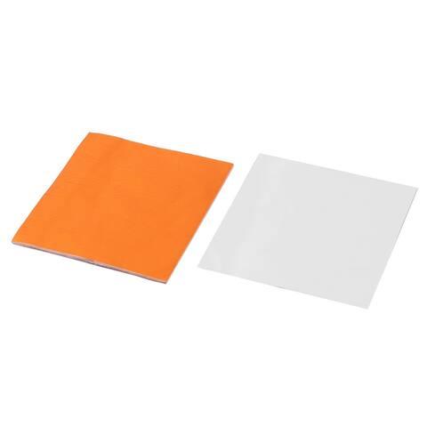 Wedding Aluminum Foil Chocolate Sugar Packing Paper Orange 3 x 3 Inch 100pcs