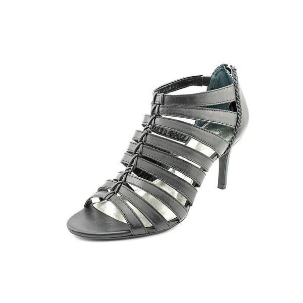 Alfani Menny Women Open Toe Leather Black Sandals