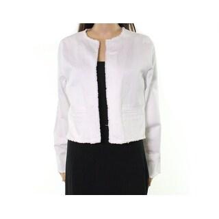 Lauren by Ralph Lauren NEW White Women Large PL Petite Denim Jacket