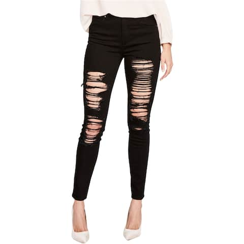 Rachel Roy Womens Ripped Skinny Fit Jeans