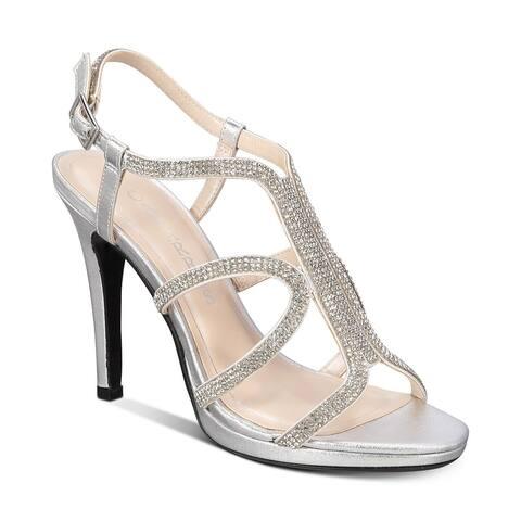 Caparros Women's Shoes Pizzaz Fabric Open Toe SlingBack Classic Pumps - 6