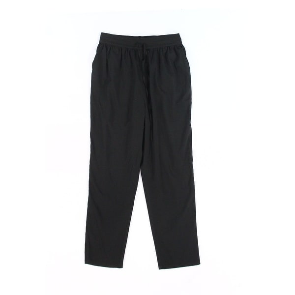 ABound Solid Deep Black Women's Size XL Pull-On Drawstring Pants