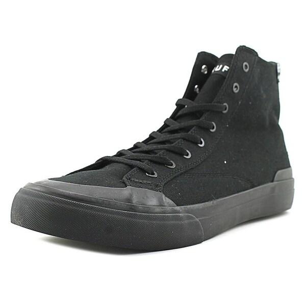 HUF Classic Hi Ess Tx Men Round Toe Canvas Black Sneakers
