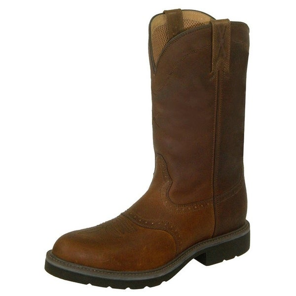 Twisted X Work Boots Mens Leather Steel Toe Oiled Brown