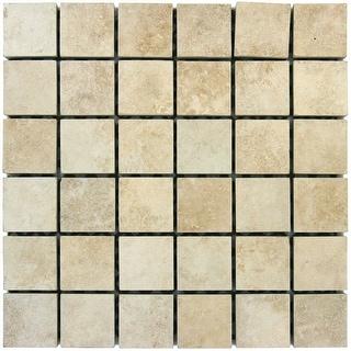 "MSI NTRABEI2X2  Travertino Beige - 2"" x 2"" Square Mosaic Wall Tile - Matte Visual - Sold by Carton (8 SF/Carton)"