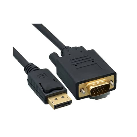 Offex DisplayPort to VGA Video cable, DisplayPort Male to VGA Male, 15 foot