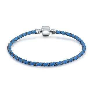 Bling Jewelry Blue Braided Leather Cord Barrel Clasp Bracelet .925 Sterling Silver|https://ak1.ostkcdn.com/images/products/is/images/direct/2f8c0871766d86d7eda305f12b2f0c1b87c352d2/Bling-Jewelry-Blue-Braided-Leather-Cord-Barrel-Clasp-Bracelet-.925-Sterling-Silver.jpg?impolicy=medium