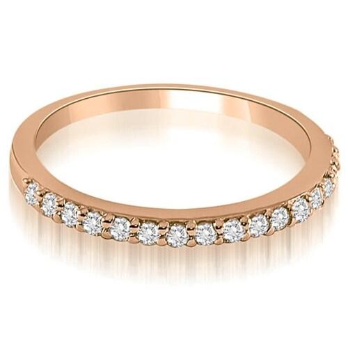0.11 cttw. 14K Rose Gold Classic Round Cut Diamond Wedding Band