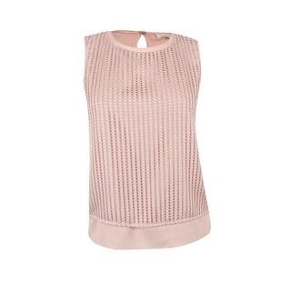 Calvin Klein Women's Sleeveless Layered Top (L, Blush) - blush - l