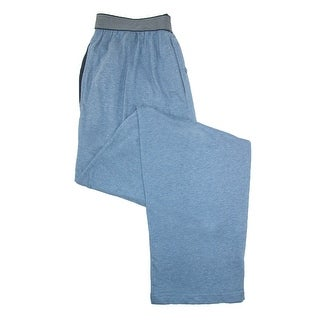 Hanes Men's Knit Pajama Pant with Exposed Waistband - Blue - SMALL