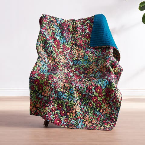 Barefoot Bungalow Alice Quilted Throw Blanket