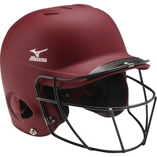 Mizuno MBH601 Prospect Solid Batting Helmet with Facemask