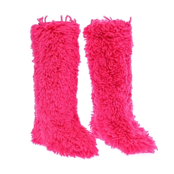 Shop Dolce & Gabbana Pink Wool Runway Boots Shoes Stivali