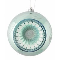 "Baby Blue Retro Reflector Shatterproof Christmas Ball Ornament 8"" (200mm)"