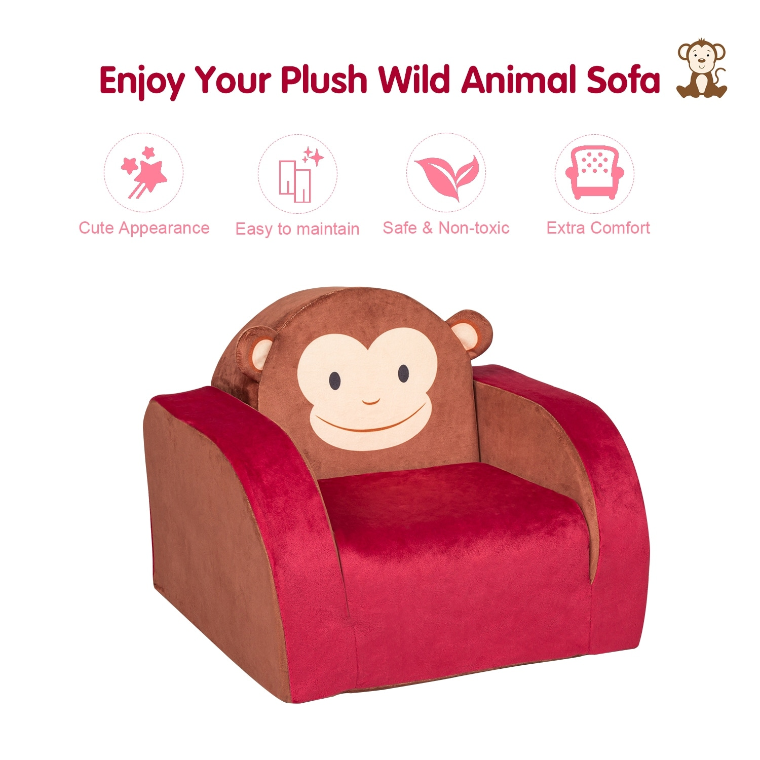 Childrens Kids Comfy Soft Foam Chair Toddlers Armchair Seat Bedroom Lounger Sofa